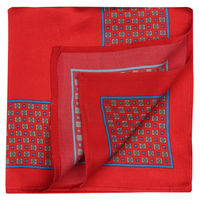 Red Cube Pattern Pocket Square