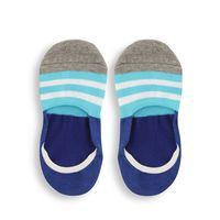 Chasquido Multicolor Stripe Blue No-Show Loafer Socks