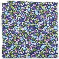Blue field pocket square