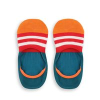 Chasquido Multicolor Stripe Blue/Orange No-Show Loafer Socks