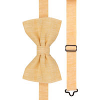 Yellow Linen Bow Tie