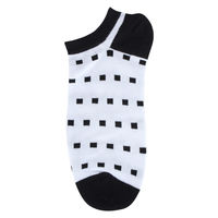 Square Dots Low Cut Socks