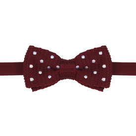 Blood Red Knitted Bow Tie