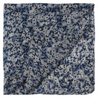 Blue Floral Extra Long Pocket Square