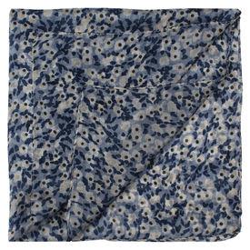 Blue Floral Extra Long Pocket Square
