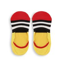 Chasquido Multicolor Stripe Yellow/Red No-Show Loafer Socks