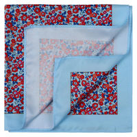 Sky Blue Blossom Pocket Square
