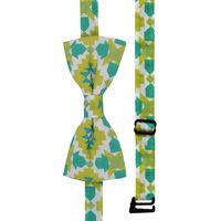 Green Aztec Print Bow Tie