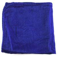 Blue velvet pocket square