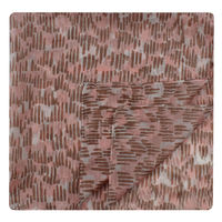 Rose Pink Abstract Extra Long Pocket Square