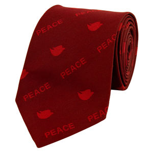 Necktie - Peace - Maroon Color