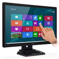 ViewSonic LED Backlit LCD Monitor TD2420,  black, 24