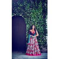 Kyara Bangalori Silk Lehanga - 10002,  violet red