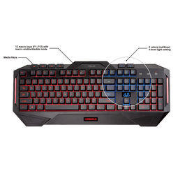 Asus Cerberus 30500 Gaming Keyboard,  black