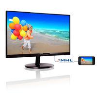 Philips SmartImage lite monitor 224E5QHSB/94,  black, 21.5