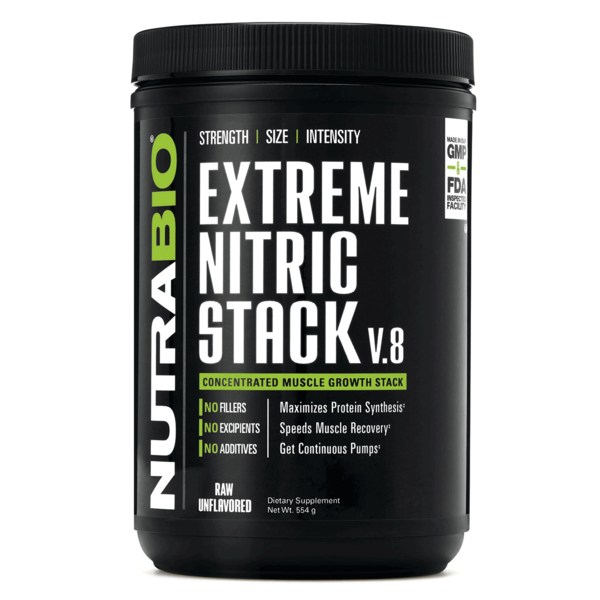 NutraBio® Extreme Nitric Stack, unflavored