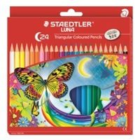 Staedtler Luna School Triangular Color Pencil 24 Shades (138 C24)