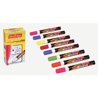 Soni Officemate Fluorescent Window Markers( Assorted Colours, 8 Pcs)