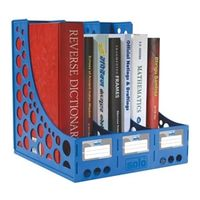 Solo File & Book Rack (XL, FS 301, Blue)