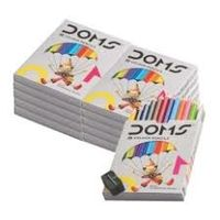 Doms Half Size Colour Pencil (12 Shades, Pack of 5)