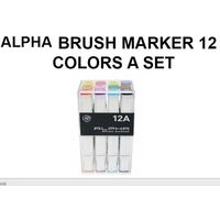 Alpha Colors Brush Markers(12 colours)