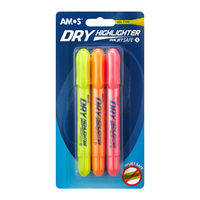 Amos Dry Highlighter, 3 Pcs Blister (HLD3B1)