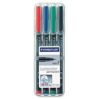 Staedtler Luma Colour Pens Fine Permanent (Set of 4 Colours) 318 WP 4