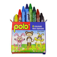 Polo Wax Crayons 8 Colours (L 50MM) Pack of 20