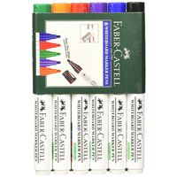 Fabercastell White Board Marker (6 Different Colours) , mixed, mixed