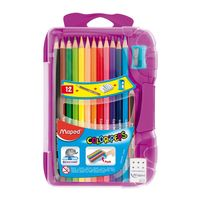 Maped Colour Peps Triangular Shaped Colour Pencils, 12 Shades(Smart Box)