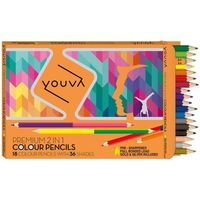 Navneet Youva 2 in 1 Colour Pencil 35011 (Pack of 18/36)