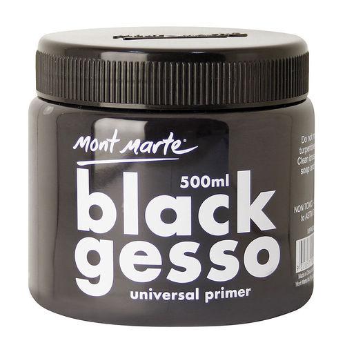 Mont Marte Gesso Primer Black - 500ml