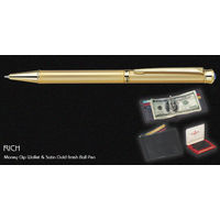 Pierre Cardin Rich Set ( Money Clip Wallet & Gold finish Ball Pen)