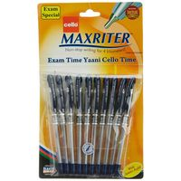 Cello Maxriter ball Pen, Blue, Packof 10