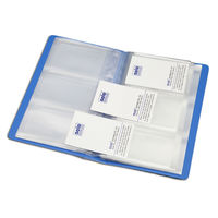 Solo Business Cards Holder - 240 cards (Blue, BC 802)