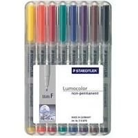 Staedtler Luma Colour Pens Fine Non Permanent (Set of 8 Colours) 316 WP 8