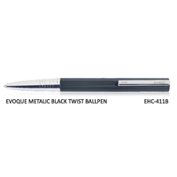 Signac Evoque Twist Ball Pen Metallic Black (EHC-411B)