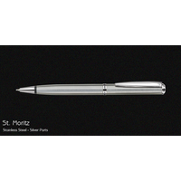 Pierre Cardin St Moriz Stainless Steel Silver Ball Pen