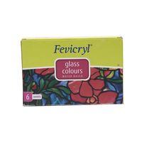 Fevicryl Glass Colour Kit Glitters 6 Shades