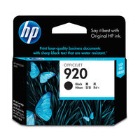 HP 920 Black Officejet Ink Cartridge(CD971AA)