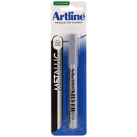 Artline Paint Marker (Silver, Pack of 2)