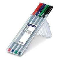 Staedtler Triplus Fineliner Pen (Pack of 4 colors) 334 SB4