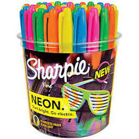 Sharpie Neon Fine Permanent Marker Assorted (Pack of 36) (SAN 1875609)