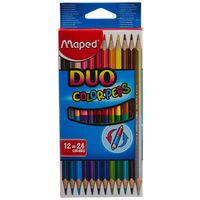 Maped Duo Color Peps Colour Pencil ( 12= 24 shades)