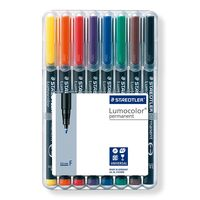 Staedtler Lumocolor Permanent Super Fine Pen 8 Shades (313 WP 8)