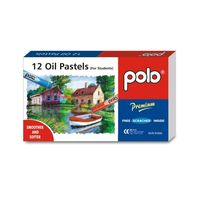 Polo Oil Pastel 12 Colours With Scratcher