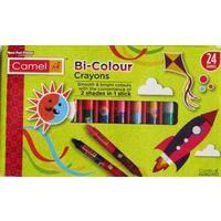 Camlin Bi Colour Wax Crayons ( 24 Shades)