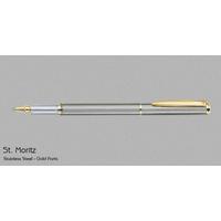 Pierre Cardin St Moriz Stainless Steel Gold Roller Pen