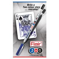 Flair 2 in 1 Ball Pen ( 2 way pen, Blue & Black) Pack of 10