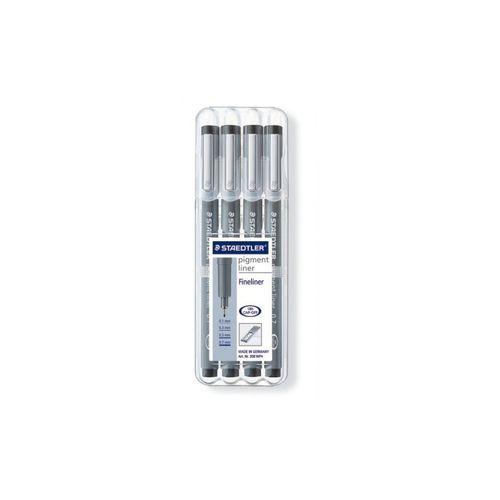 Staedtler Pigment Liner Set (Pack of 4) (308 WP4)